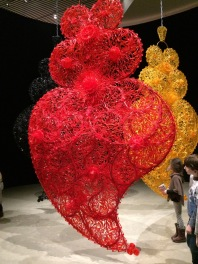 Work by Joana Vasconcelos (plastic cutlery)