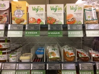 The vegan aisle at a Danish supermarket