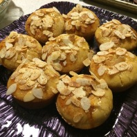 Apricot-almond cupcakes for New Year's Eve