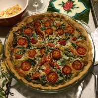 My vegan quiche for New Year's Eve