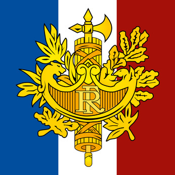 france coat of arm and flag